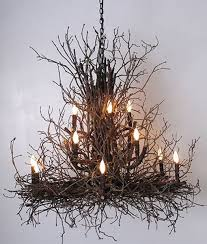 Wildwood Rustic Hickory Twig Branch Chandelier - Branchelier in Natural or  White