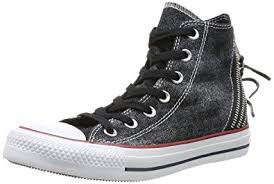 converse zip. converse womens chuck taylor all star femme sparkle wash tri zip hi trainers 382520 8 black n