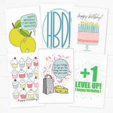 20 Birthday Card Printables Digital Stickers