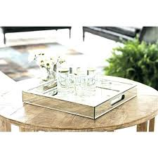 picture round mirrored tray mirrored tray for coffee table large mirrored