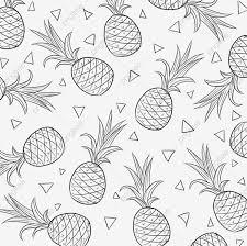 夏日水果手绘线条菠萝手绘可爱png素材透明背景图片和psd格式源文件免费下载
