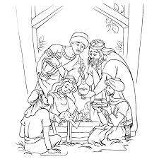 Jezus In In De Kribbe Kleurplaat Leuk Voor Kids Drie Koningen Bij