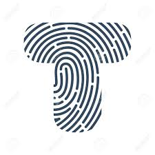Fingerprint Design T Letter Line Icon Vector Fingerprint Design Detective Audit