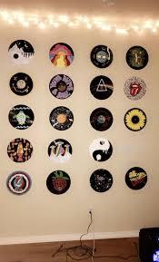 painted vinyl record wall vinyl art