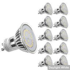240v 50w Gu10 Light Bulb Le Gu10 Led Light Bulbs Daylight White 5000k 50w Halogen Bulb Equivalent 4w 350lm 120 Beam Angle Pack Of 10