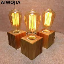 edison table lamp vintage home lighting. Vintage Loft Wood Wooden Table Lamp Light Edison Bulb E27 AC 110V/220V For  Living Edison Table Lamp Vintage Home Lighting