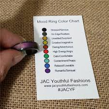 Mood Ring Chart Magnetic Hematite Mood Ring Feeling Color Change Adjustable