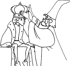 The Sword In The Stone King Arthur And Magic Man Coloring Pages ...