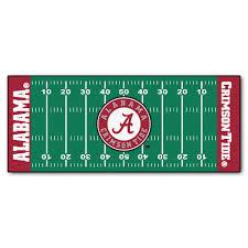 fanmats university of alabama 3 ft x 6 ft football field rug runner rug