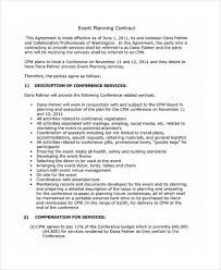 Event Planning Services Agreement 18 Event Contract Templates Sample Word Google Docs