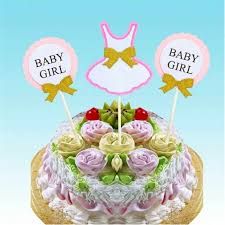 1 Year Birthday Cake Design Hey Funny 3pcs Set Cake Topper Flag Baby Boy Girl 1 Year Old