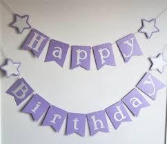 Purple Happy Birthday Banner Purple And Silver Twinkle Twinkle Star Happy Birthday Banner