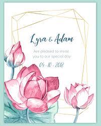 plantable wedding invitation watercolor lotus