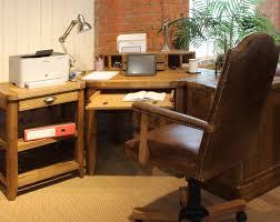office corner desk with hutch. Image Of: Oak Corner Desk Hutch Office With