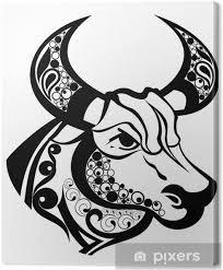 Obraz Znamení Zvěrokruhu Taurustattoo Design Na Plátně