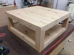 custom made rustic coffee table knotty alder