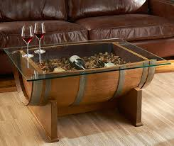 Wine barrell furniture Ice Chest The Green Head French Oak Wine Barrel Cocktail Table