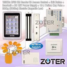 280kg magnetic door lock kit id card diy 125khz access control password system