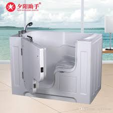 2018 the elderly have no obstacle to open doors and take the bathtub of bathtub accessories