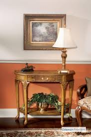 Queen Anne Living Room Furniture Furniture Epic Image Of Cherry Carved Wood Half Moon Tall Hallway