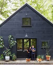 House With Black Trim A Bolt From The Blue Black House Dresden And Barn