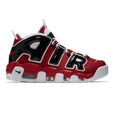 nike shoes red and black. men\u0027s nike air more uptempo \u002796 shoe - red/black shoes red and black