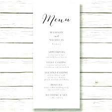 Party Menu Template Party Menu Template Word Free Dinner Rustic Wedding