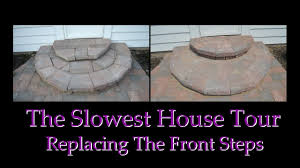 constructing entry steps using wall pavers