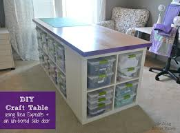 DIY Craft Table--seems really large for my space but I like the idea