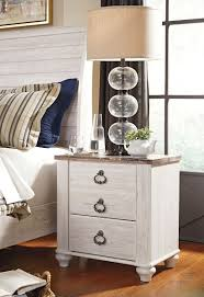 Image Realyn Willowton Twotone Two Drawer Night Stand Royal Star Furniture The Willowton Twotone Two Drawer Night Stand Available At Royal