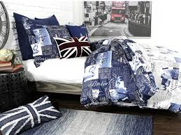 passport blue bedding by alamode