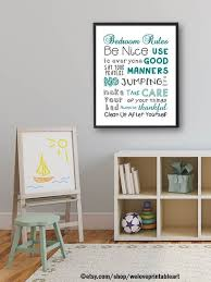 How To Clean Bedroom Walls Interesting Kids Room Decor Bedroom Rules Kids Room Wall Art Bedroom Etsy
