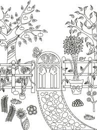 Garden path coloring page | ✐Colouring for Adults | Pinterest ...