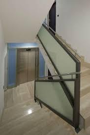 opaque glass stair railing