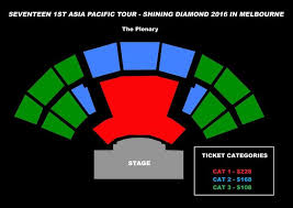 The Plenary Seating Chart Seventeens Asia Pacific Tour Update Ticket Prices And