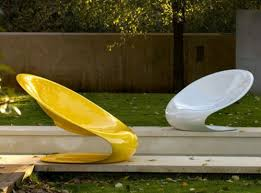 cool garden furniture. Cool Garden Furniture For The Patio Plastic White Yellow Brilliant Chair G