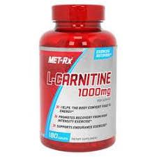 MET-Rx <b>L</b>-<b>Carnitine</b> - <b>1,000 mg</b> - <b>180</b> capsules - eVitamins.com