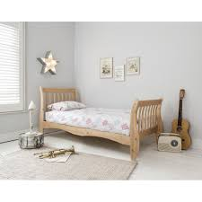 Single Bedroom Sleigh Frame Single Bed In Natural Noa Nani