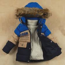 sz l l children winter coat for boys hooded jacket kids thick clothes child warm