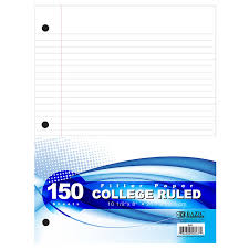 Printable College Ruled Paper Cool Poster Paper Stationary Print Folder Clipboard Styrofoam
