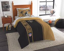 Nfl Bedroom Furniture New Orleans Saints Bed Comforter Set Nfl Football Helmet