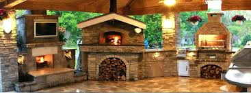 outdoor fireplace and pizza oven designs image 3 with decorating combo plan