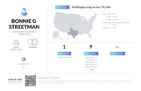 Bonnie G Streetman, (512) 899-0945, 4410 Eagles Lndg, Austin, TX ...