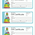 Formal Gift Certificate Template Free Certificate Templates