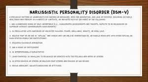 Narcissistic Behavior Patterns