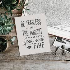 desk accessories college graduation gift office wall art boss gift typography print best friend gift be fearless in the pursuit sign5
