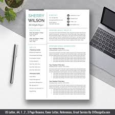 Modern Clean Resume Template Most Popular Cv Template Instant