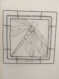 gossamer dragon wire drawing by janet mcbeen