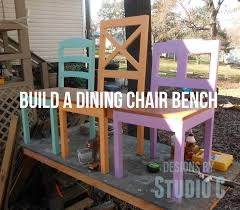 diy repurposed furniture. build a dining chair bench diy painted furniture woodworking projects repurposed