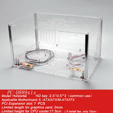 Aliexpress.com : Buy QDIY PC D889XLS Personalized Horizontal E ATX HTPC  Acrylic Transparent Clear Desktop PC Water Cooled Computer Case Chassis  from ...